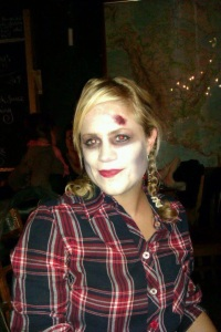 Me as a Lovesick Cowgirl at a Halloween gig at the The Waiting Room