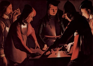 The Dice Players by Georges de La Tour is truly one of the most beautiful paintings I've seen