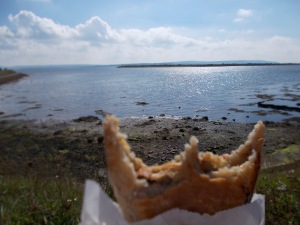 Lymington Coastline with said pasty